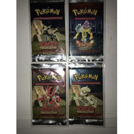Lot 4 Boosters Pokémon francais discovery wizard sceller sortie display noctali