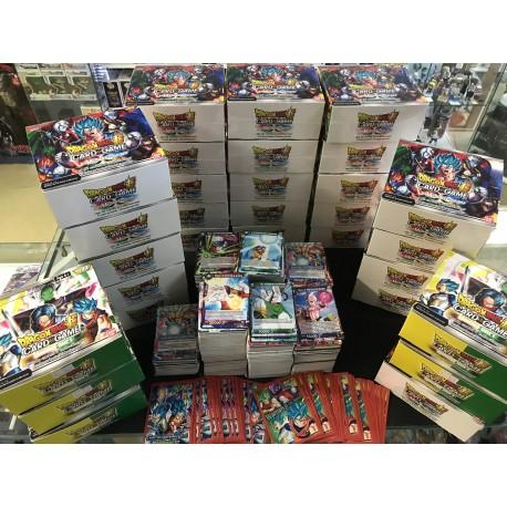 tcg dragon ball super lot 50 cartes SANS DOUBLE COMMUNE/UC + SURPRISE FRANCAIS