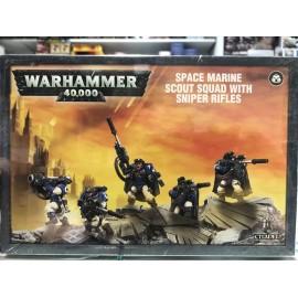 WARHAMMER 40 000 adeptus astartes space marine Escouade de Scouts Space Marines avec Fusils de Snipers