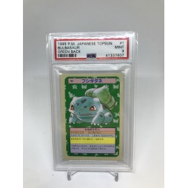 POKEMON 1995 japanese PSA9 topsun bulbasaur green back bulbizarre