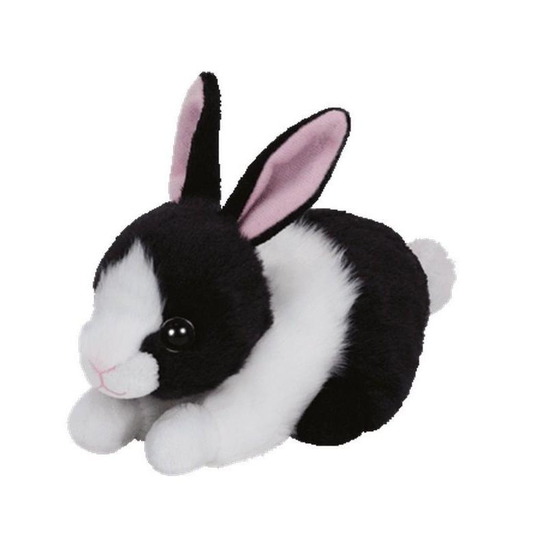 15 cm peluche plush beanie boo 39 s small lapin blanc et noir dream of figure. Black Bedroom Furniture Sets. Home Design Ideas