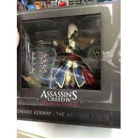 ULTRA RARE ubisoft Assassins creed 4 black flag barbe noire le légendaire pirate statue figure