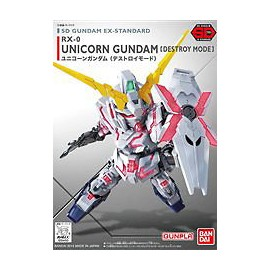 Gundam SD RX-0 UNICORN DESTROY MODE Ex Standard Bandai Model Kit