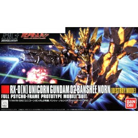 BANDAI HG RX-0 UNICORN 02 BANSHEE NORN DESTROY MODE Plastic Model Kit