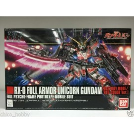 BANDAI HG GUNDAM RX-0 FULL ARMOR UNICORN DESTROY MODE RED COLOR Plastic Model Kit