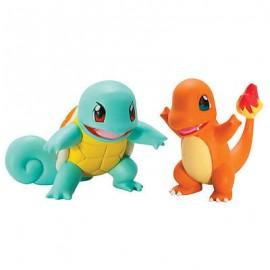 tomy figurine duo pack de 2 figure pokemon carapuce et salamèche