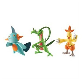 tomy figurine TRIO pack de 3 figure pokemon AQUALI VOLTALI PYROLI