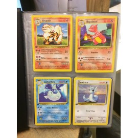 COLLECTION SET DE BASE COMPLET COMMUNE ET UNCO pokemon WIZARD ED 1 FR officiel