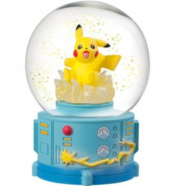 FIGURINE FIGURE BOULE A NEIGE Pokemon Pikachu snow slow life Japan OFFICIEL POCKET MONSTERS