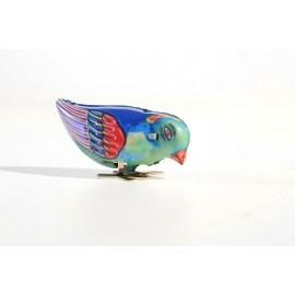 oiseau bleu qui picore / JOUETS ANCIENS / retro / vintage