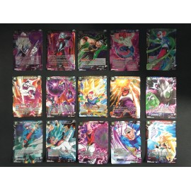 EX03 LOT DE 15 CARTES HOLO FOIL tcg dragon ball SUPER FRANCAIS FR CARD GAME