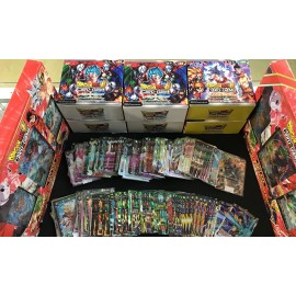 HOLO tcg dragon ball super lot 20 cartes FR SANS DOUBLE avec SLEEVE FRANCAIS DBZ bt