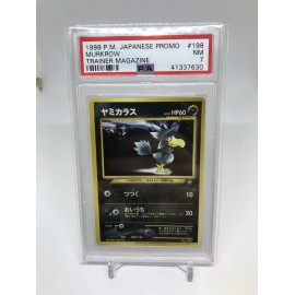 POKEMON 1999 japanese vending PSA7 murkrow series I