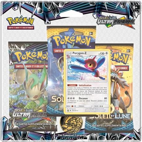 TRI PACK 3 BOOSTER pokemon EN FRANCAIS Soleil et Lune boumata