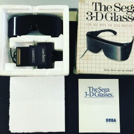 SEGA Master System the sega 3-d glasses lunette 3d ultra rare