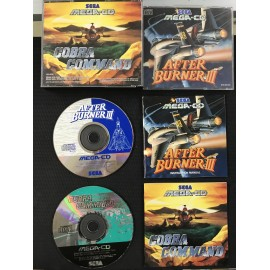 SEGA after burner 3 + cobra command francais mega-cd complet boite + notice