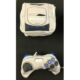SEGA saturn porte monnais , mini cousin , sacoche rangement ds / game boy / game gear