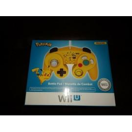 Hori Pokemon Pikachu filaire Battle Pad Controller jaune (Wii U Wii) Neuf Scellé