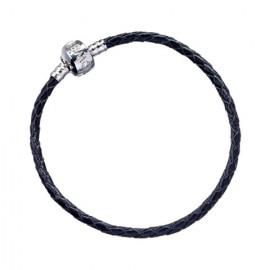 harry potter Bracelet à Charms en cuir noir 18 cm