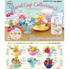 Re-ment Pokemon Mini Figurine Floral Tasse Collection 2 Set 6 Type Japon Officel