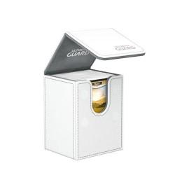 Ultimate Guard boîte pour cartes Flip Deck Case 80+ taille standard XenoSkin Blanc