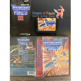 sega mega drive japan / THUNDER FORCE III 3 / boite / notice