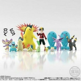 BANDAI POKEMON mondiale Johto Set (Shokugan) Mini Figure scale word 15 pieces