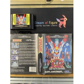 sega mega drive pal / captain planet / boite /