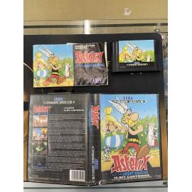 SEGA retro gaming MEGADRIVE astérix boite / notice
