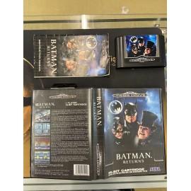 SEGA retro gaming MEGADRIVE batman returns boite / notice