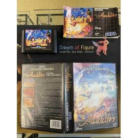 SEGA retro gaming MEGADRIVE disney aladdin boite / notice
