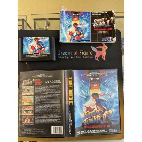 SEGA retro gaming MEGADRIVE street fighter II special edition boite / notice