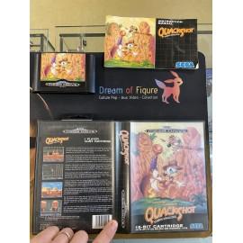 SEGA retro gaming MEGADRIVE quackshot starring donal duck boite / notice