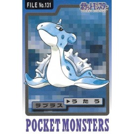 POKEMON Pocket Monsters Carddass Trading Cards no.131 lokhlass Lapras bandai