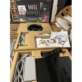 Console Nintendo Wii noir notice boîte mario kart Wii complete