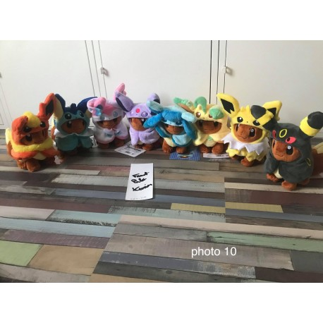 pokemon peluche plush pokemon center officiel Evoli de noël 2016 neuf