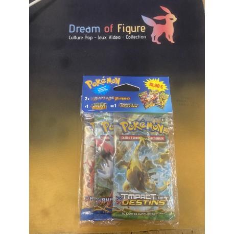 Boosters Pokemon xy9 RUPTURE turbo pack 3 boosters nemelios en francais
