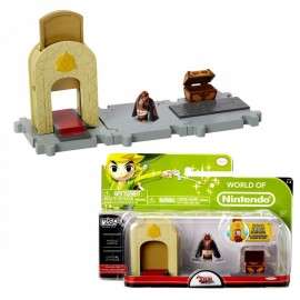 WORLD OF NINTENDO THE LEGEND OF ZELDA Wind Waker PLAYSET and Figure NINTENDO MICRO LAND Jakks Pacific