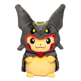 OFFICIEL POKEMON CENTER PELUCHE PLUSH PIKACHU Rayquaza poncho BLACK