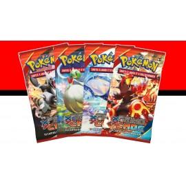 LOT DE 4 BOOSTERS Pokemon Xy PRIMO CHOC en Français