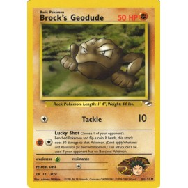 carte Pokemon wizard gym heroes 38 132 Brock s Geodude NEUF US no display no booster